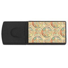 Complex Geometric Pattern USB Flash Drive Rectangular (1 GB) by linceazul
