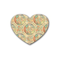 Complex Geometric Pattern Heart Coaster (4 Pack)  by linceazul