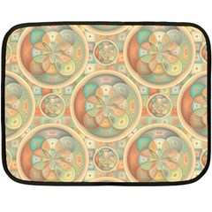 Complex Geometric Pattern Fleece Blanket (mini) by linceazul