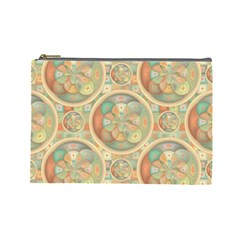 Complex Geometric Pattern Cosmetic Bag (large)  by linceazul
