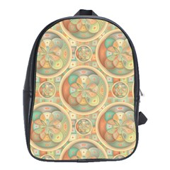 Complex Geometric Pattern School Bags(large)  by linceazul