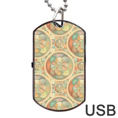 Complex Geometric Pattern Dog Tag Usb Flash (two Sides) by linceazul