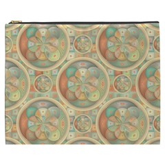 Complex Geometric Pattern Cosmetic Bag (xxxl)  by linceazul
