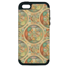 Complex Geometric Pattern Apple Iphone 5 Hardshell Case (pc+silicone) by linceazul