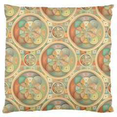 Complex Geometric Pattern Standard Flano Cushion Case (one Side) by linceazul