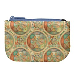 Complex Geometric Pattern Large Coin Purse by linceazul