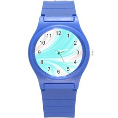 Colors Round Plastic Sport Watch (s) by ValentinaDesign