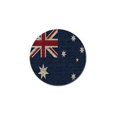Vintage Australian Flag Golf Ball Marker by ValentinaDesign