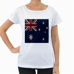 Vintage Australian flag Women s Loose-Fit T-Shirt (White) by ValentinaDesign