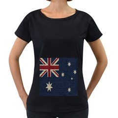 Vintage Australian flag Women s Loose-Fit T-Shirt (Black) by ValentinaDesign