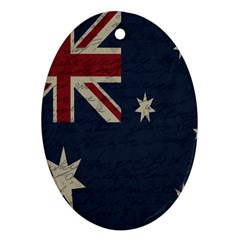 Vintage Australian Flag Oval Ornament (two Sides) by ValentinaDesign