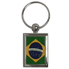 Vintage Flag   Brasil Key Chains (rectangle)  by ValentinaDesign