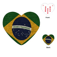 Vintage Flag   Brasil Playing Cards (heart)  by ValentinaDesign