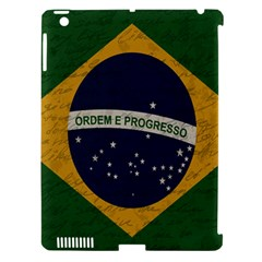Vintage Flag   Brasil Apple Ipad 3/4 Hardshell Case (compatible With Smart Cover) by ValentinaDesign