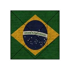 Vintage Flag   Brasil Acrylic Tangram Puzzle (4  X 4 ) by ValentinaDesign