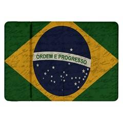 Vintage Flag   Brasil Samsung Galaxy Tab 8 9  P7300 Flip Case by ValentinaDesign