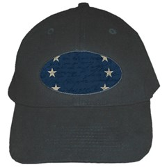 Vintage Flag   Eu Black Cap by ValentinaDesign