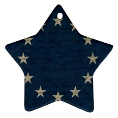 Vintage Flag   Eu Star Ornament (two Sides) by ValentinaDesign