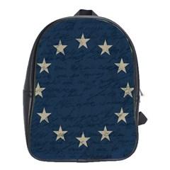 Vintage Flag   Eu School Bags(large)  by ValentinaDesign