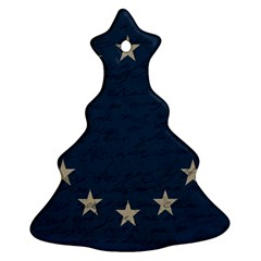 Vintage Flag   Eu Christmas Tree Ornament (two Sides) by ValentinaDesign