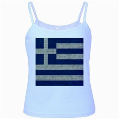 Vintage Flag   Greece Baby Blue Spaghetti Tank by ValentinaDesign