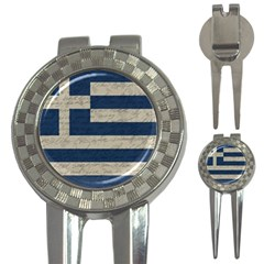 Vintage Flag   Greece 3 In 1 Golf Divots by ValentinaDesign