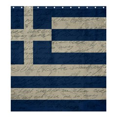 Vintage Flag   Greece Shower Curtain 66  X 72  (large)  by ValentinaDesign