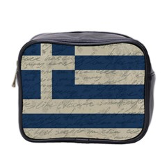 Vintage Flag   Greece Mini Toiletries Bag 2 Side by ValentinaDesign