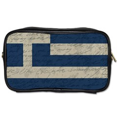 Vintage Flag   Greece Toiletries Bags 2 Side by ValentinaDesign