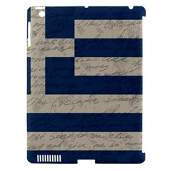 Vintage Flag   Greece Apple Ipad 3/4 Hardshell Case (compatible With Smart Cover) by ValentinaDesign