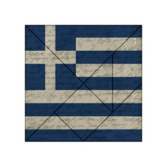 Vintage Flag   Greece Acrylic Tangram Puzzle (4  X 4 ) by ValentinaDesign