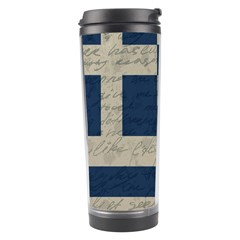 Vintage Flag   Greece Travel Tumbler by ValentinaDesign