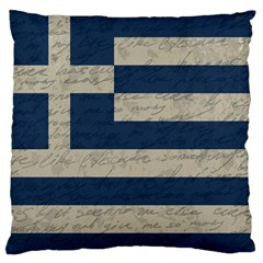 Vintage Flag   Greece Large Flano Cushion Case (two Sides) by ValentinaDesign