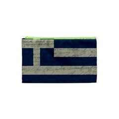 Vintage Flag   Greece Cosmetic Bag (xs) by ValentinaDesign