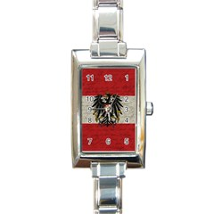 Vintage Flag   Austria Rectangle Italian Charm Watch by ValentinaDesign