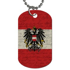 Vintage Flag   Austria Dog Tag (two Sides) by ValentinaDesign