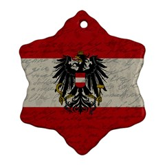 Vintage Flag   Austria Snowflake Ornament (two Sides) by ValentinaDesign