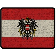 Vintage Flag   Austria Double Sided Fleece Blanket (large)  by ValentinaDesign
