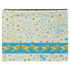 Birds And Daisies Cosmetic Bag (xxxl)  by linceazul