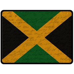 Vintage Flag   Jamaica Double Sided Fleece Blanket (large)  by ValentinaDesign