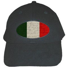 Vintage Flag   Italia Black Cap by ValentinaDesign