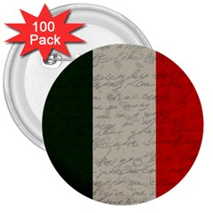 Vintage Flag   Italia 3  Buttons (100 Pack)  by ValentinaDesign