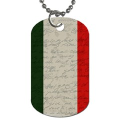 Vintage Flag   Italia Dog Tag (one Side) by ValentinaDesign