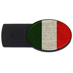 Vintage Flag   Italia Usb Flash Drive Oval (2 Gb) by ValentinaDesign