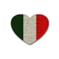 Vintage Flag   Italia Heart Coaster (4 Pack)  by ValentinaDesign