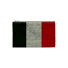 Vintage Flag   Italia Cosmetic Bag (small)  by ValentinaDesign