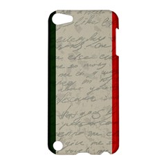 Vintage Flag   Italia Apple Ipod Touch 5 Hardshell Case by ValentinaDesign