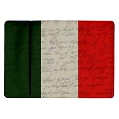 Vintage Flag   Italia Samsung Galaxy Tab 10 1  P7500 Flip Case by ValentinaDesign