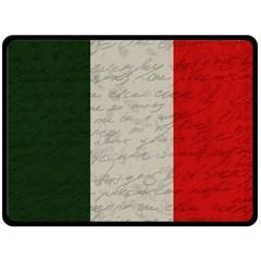 Vintage Flag   Italia Double Sided Fleece Blanket (large)  by ValentinaDesign