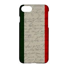 Vintage Flag   Italia Apple Iphone 7 Hardshell Case by ValentinaDesign